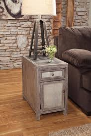 Chair Side Tables With Storage Laurent Narrow Chairside Table Chocolate Cherry Finish Leick For