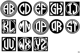 letter monogram identifont circle monograms two black