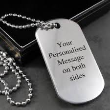 Engraved Dog Tag Necklace Personalised Engraved Dog Tag Necklace Eventions Gifts