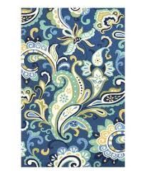 Yellow And Blue Outdoor Rug Blue And Yellow Abstract Area Rug 5 3 X 7 5 63 Inch By 89 Inch