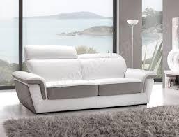 canapé cuir blanc 3 places canapé cuir satis city 3 places blanc et gris pas cher ubaldi com
