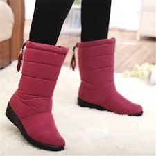 womens boots mid calf winter boots mid calf boots waterproof