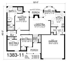 3 Bedroom 2 Bath 1 Story House Plans by Vibrant Design Single Story House Plans With Basement Best 25 One