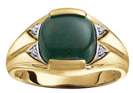 men rings stone images Brilliant gold jewellery men 39 s ring 10k yellow gold blood stone jpg