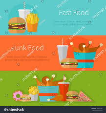 fast food banner design concept flat stock vector 436975183