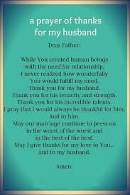 husband thanksgiving prayer festival collections