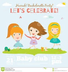 Birthday Invitation Card Download Vector Birthday Invitation Card On Baby Party With Stock Vector