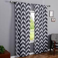 rhf chevron curtains polyester u0026 cotton grey and white chevron