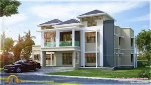 outstanding small double floor modern house plan kerala home