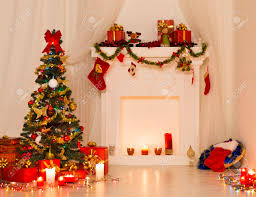 christmas room interior design xmas tree decorated by lights
