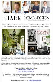 Home Design Magazine Washington Dc Stark U0027s A List Designers U0026 Other Big Names At Dc Design Center U0027s