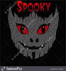 halloween monster background illustration of spooky monster