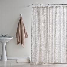 Neutral Shower Curtains Leopard Print Shower Curtain Affordable Modern Home Decor