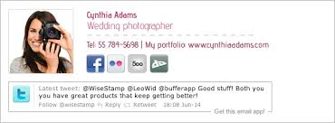 get a free wedding photographer email signature marketing for