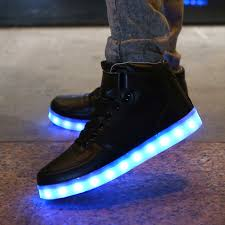 light shoes for mens akexiya sale golden silver big size 46 led shoes men glowing