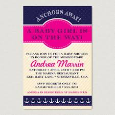 nautical baby shower invitations nautical baby shower invitation anchors away girl baby shower