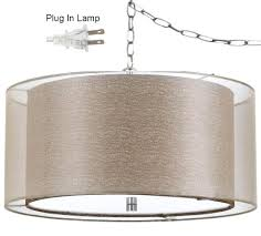 Swag Lighting Ideas by Double Drum Ceiling Light With Swag Lamp Golden Sheer Organza