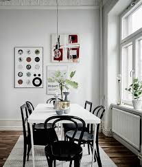Black Dining Table White Chairs Dining White Rectangular Dining Table With Mismatched Black