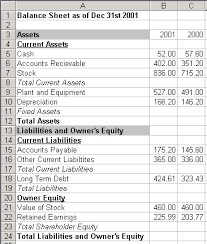 End Of Year Balance Sheet Template Introduction To Excel Part 2 Basic Financial Statements
