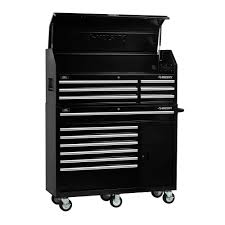 home depot tool cabinet husky 52 in 13 drawer tool chest and cabinet combo in black