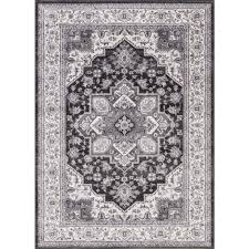 Concord Global Area Rugs Concord Global Trading Lara Heriz Anthracite 5 Ft 3 In X 7 Ft 7