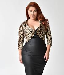 steady plus size leopard marilyn sweater bolero unique vintage