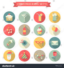 christmas martini png christmas new year icon set flat stock vector 225078799 shutterstock