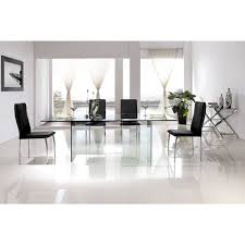 Dining Room Furniture Miami Casabianca Home Miami Collection Clear Glass Dining Table Free