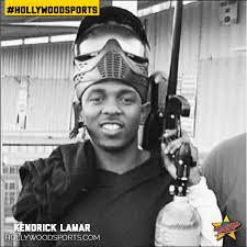 kendrick lamar plays paintball at hollywood sports hollywood sports