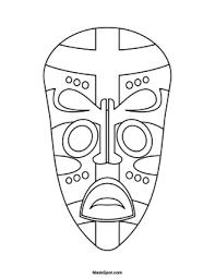 printable african mask symmetry cc art pinterest african