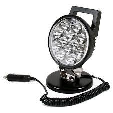 420 lumen led work light 0 420 79 durite 12 24v dc 12 x 3w led work l with magnetic base