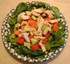 Chicken Main Dish - main dish salad recipe with chicken avocado and baby spinach
