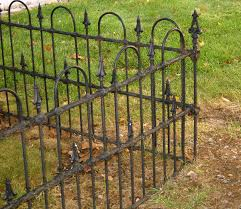 Outdoor Fence Decor Ideas by Exterior Design Stylish Rod Iron Fence For Garden And Landscape