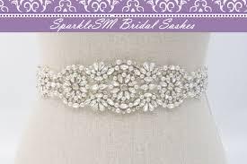 bridal sash rhinestone pearl sash bridal sash bridal belt swarovski