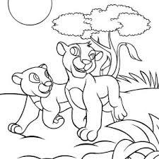 nala coloring pages nala sleep on simba shoulder coloring page nala sleep on simba