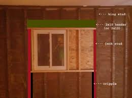 how to frame a door opening window framing on old construction home improvement stack exchange