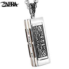 aliexpress buy new arrival cool charm vintage zabra 925 sterling silver harmonica can be sounded cool pendant