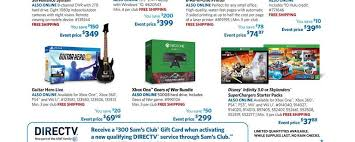 black friday deals on xbox one get a ps4 or xbox one for 299 on black friday at sam u0027s club