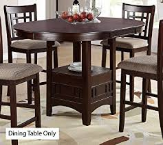 amazon counter height table amazon com poundex counter height table dark rosy brown finish