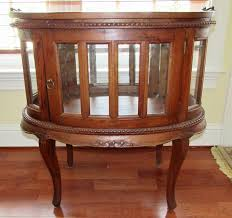 removable tray top table antique oval curio cabinet with removable serving tray top 30 tx29