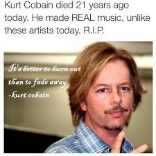 Just Meme - david spade finally weighs in on kurt cobain mural that looks just