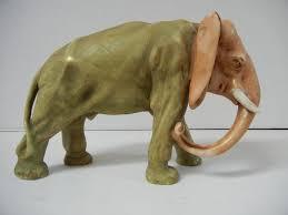 Porcelain Elephant by Antique Amphora Porcelain Elephant Turn Teplitz Bohemia From