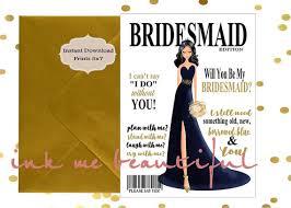 bridesmaid invite bridesmaid invite printable will you be my bridesmaid bridal