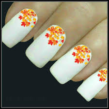 autumn nail decal fall leaves nail 20 water slide decals