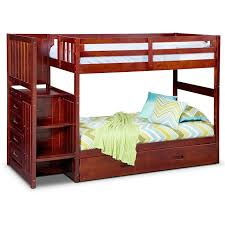 Stair Bunk Beds Ranger Bunk Bed With Storage Stairs And Trundle