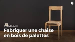 Recyclage Cagette Bois Fabriquer Une Chaise En Bois De Palette Fabriquer Des Meubles