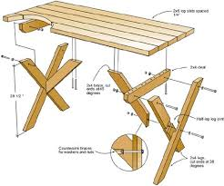 Free Picnic Table Plans 2x6 by Free Diy Furniture Plans To Build A 30 Potterybarn Inspired