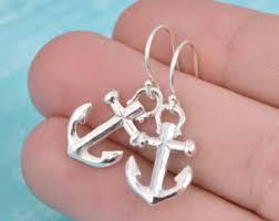 anchor earrings anchor earrings etsy