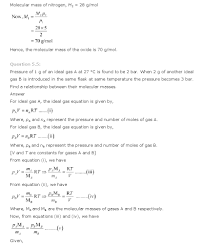 State Of Matter Worksheet Ncert Solutions For Class 11th Chemistry Chapter 5 U2013 States Of