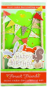 amazon com party partners design mini cake decor kit forest